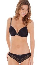 Audelle Lyla Black Push Up Biustonosz