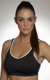 Shock Absorber Max Sports Bra Top Black/White Biustonosz