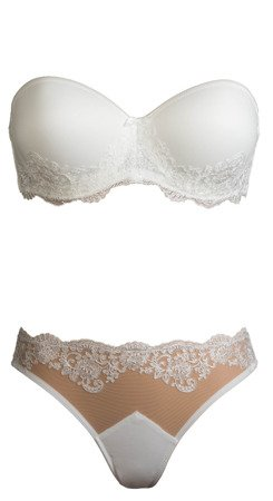 Twin Lingerie Oriana/Eleanora Double Push Up Strapless Ivory Biustonosz