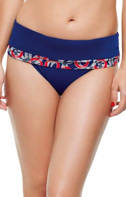Panache Swimwear Nancy Nautical Print Folded Figi